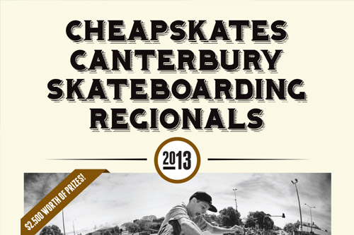 Upcoming Event-  2013 Canterbury Skateboarding Regionals